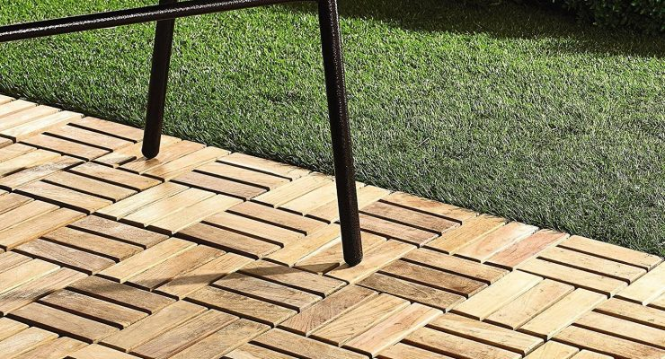 Infinita Teak Interlocking Flooring Tiles