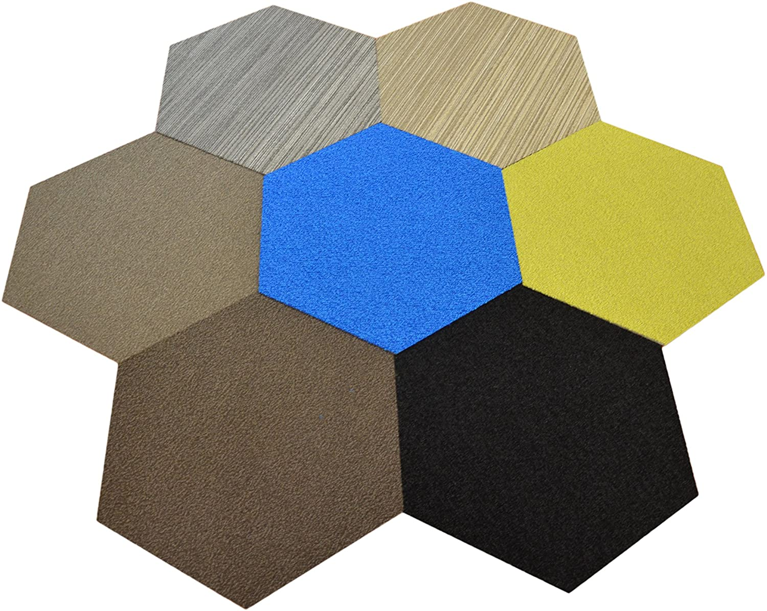 Dean Flooring Company Hexagon Shaped Commercial Carpet Tile