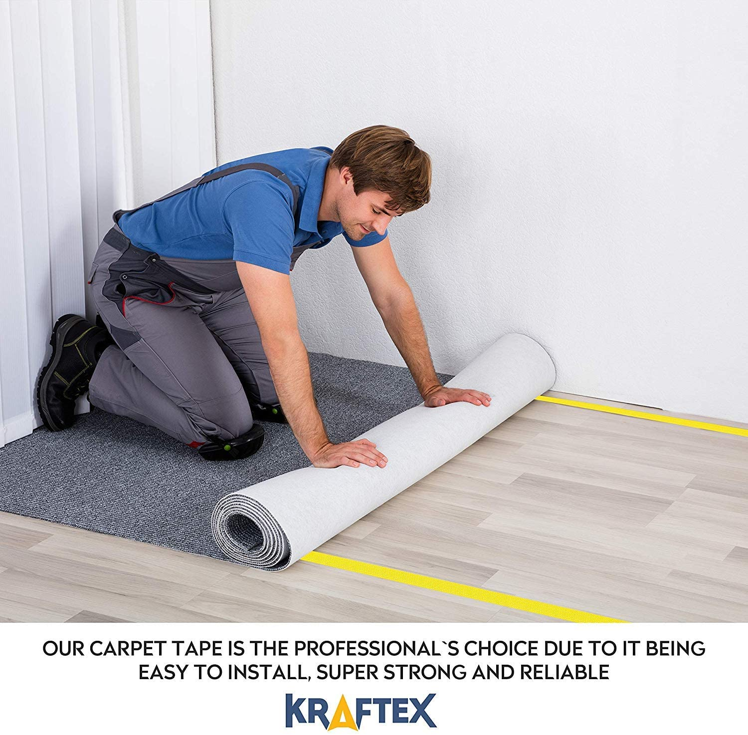 Kraftex Double Sided Unique Adhesive Carpet Tape