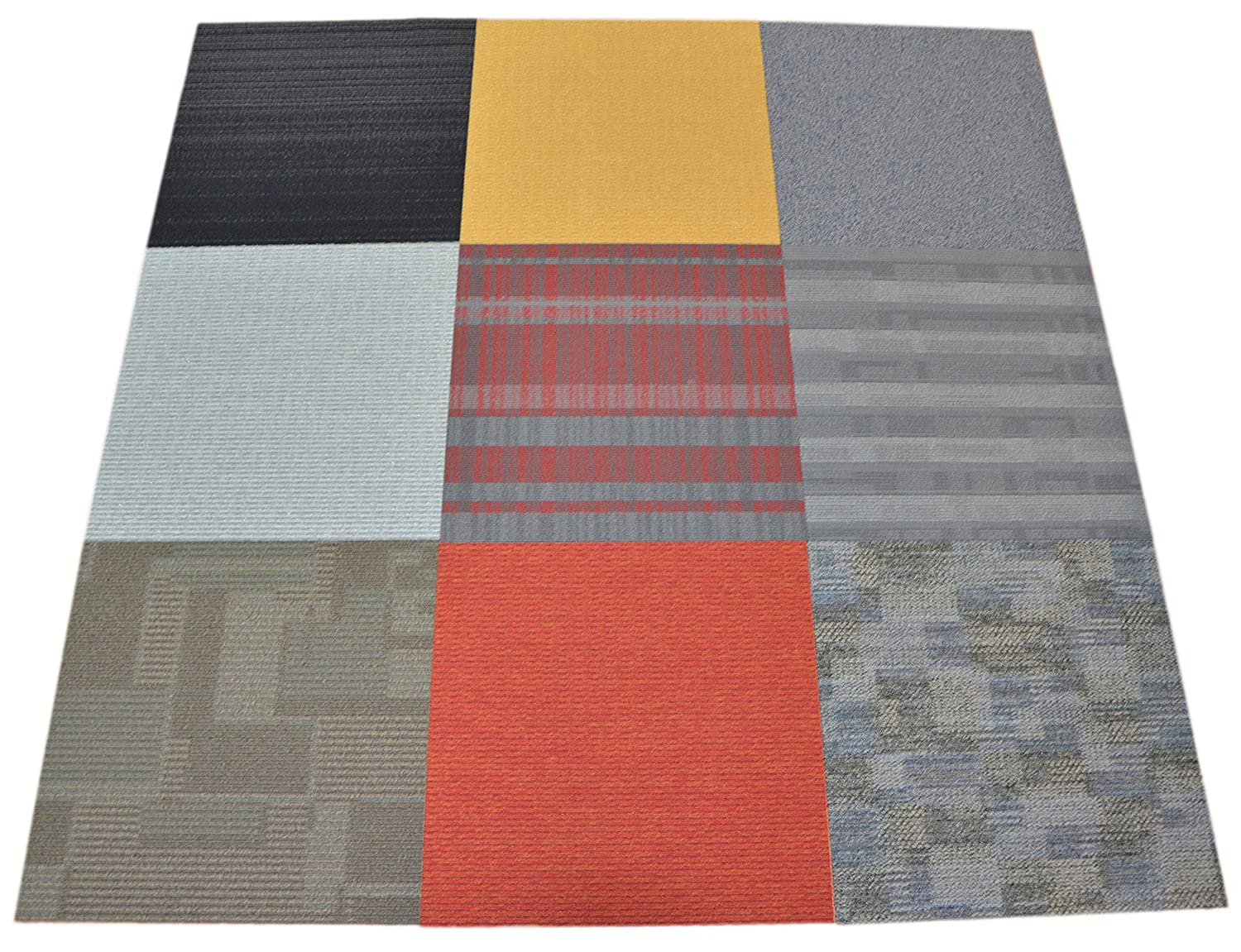 Commercial Carpet Tile Random Assorted Colors